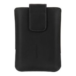 Garmin - 010-11951-00 - Garmin Premium Carrying Case (Cover) for 5 GPS Receiver - Black - Scratch Resistant - Leather, Fabric Interior