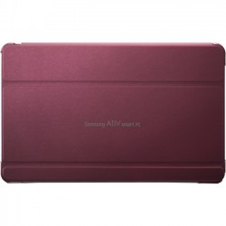 Samsung - AA-BS5NBCR/US - Samsung Carrying Case (Book Fold) for 11.6 Tablet PC - Red - Synthetic Leather