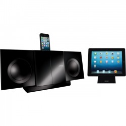 Sharp - DK-KP85P - Sharp DK-KP85P Micro Hi-Fi System - iPod Supported - Black - CD Player - 40 Channel(s) - FM, AM - 50 W PMPO - MP3, WMA, CD-DA - USB - Remote Control - DLNA Certified