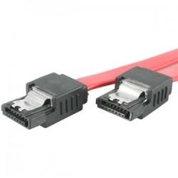 StarTech - LSATA18 - StarTech.com 18in Latching SATA Cable - Male SATA - Male SATA - 18 - Red