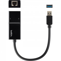 Belkin - B2B048 - Belkin Gigabit Ethernet Card - USB - 1 Port(s) - 1 x Network (RJ-45) - Twisted Pair