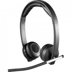 Logitech - 981-000516 - Logitech Wireless Headset H820e - Stereo - Wireless - DECT - 328.1 ft - 150 Hz - 7 kHz - Over-the-head - Binaural - Circumaural - Echo Cancelling, Noise Cancelling Microphone