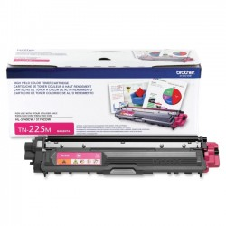 Brother International - TN225M - Brother Genuine TN225M High Yield Magenta Toner Cartridge - Laser - High Yield - 2200 Pages - Magenta - 1 Each