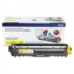 Brother International - TN225Y - Brother Genuine TN225Y High Yield Yellow Toner Cartridge - Laser - High Yield - 2200 Pages - Yellow - 1 Each