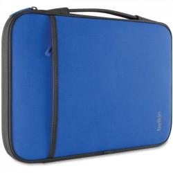 Belkin / Linksys - B2B081-C01 - Belkin Carrying Case (Sleeve) for 11 Netbook, MacBook Air - Blue - Wear Resistant - Neopro, Fleece Interior - Handle - 8 Height x 12.6 Width x 0.8 Depth