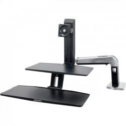 Ergotron - 24-390-026 - Ergotron Desktop Display Stand - 24 Screen Support - 20 lb Load Capacity - 24 Screen Support - 20 lb Load Capacity - Black, Polished Aluminum
