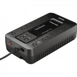 CyberPower - EC750G - CyberPower Ecologic EC750G 750VA/425W Energy Efficient Desktop ECO UPS - 750 VA/450 W - Desktop - 8 Minute Half Load - 12 x NEMA 5-15R