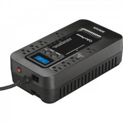 CyberPower - EC650LCD - CyberPower EC650LCD Ecologic 650VA/390W Energy Efficient LCD Desktop ECO UPS - 650 VA/390 W - Desktop - 8 Minute Half Load - 8 x NEMA 5-15R