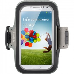 Belkin / Linksys - F8M558BTC00 - Belkin Slim Fit Armband - Arm pack for cell phone - neoprene - black - for Samsung GALAXY S4