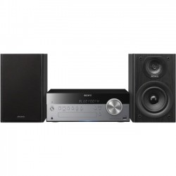 Sony - CMTSBT100 - Sony CMTSBT100 Micro Hi-Fi System - 50 W RMS - iPod Supported - Silver - CD Player - 30 Channel(s) - AM, FM - 2 Speaker(s) - CD-DA, MP3, AAC, WMA - USB - Remote Control