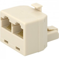 Belkin / Linksys - R6G022 - Belkin Modular Splitter Adapter - 1 x RJ-45 Male - 2 x RJ-45 Female