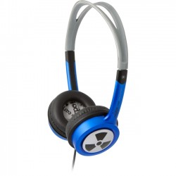 Zagg - EP-TX-BLUE - EarPollution Toxix Headphone - Wired - 15 Hz-20 kHz - Over-the-head - Binaural - Ear-cup - 47.24 Cable - Blue