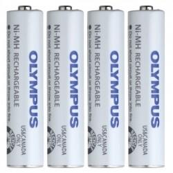 Olympus - 147427 - Olympus BR-404 Ni-MH Battery Pack (AAA -4 Pack) - 750 mAh - AAA - Nickel Metal Hydride (NiMH) - 1.2 V DC - 4 / Pack