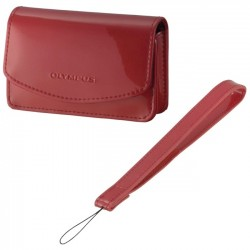 Olympus - 202469 - Olympus Carrying Case for Camera - Red - Wrist Strap - 4.7 Height x 1.5 Width x 3.4 Depth