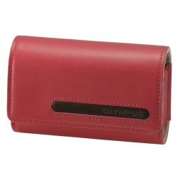 Olympus - 202464 - Olympus Carrying Case for Camera - Red - Leather - Olympus Logo