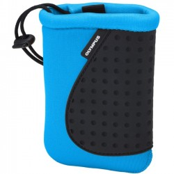 Olympus - 202386 - Olympus Carrying Case (Pouch) for Camera - Blue - Neoprene, Silicone - Wrist Strap - 4 Height x 3.5 Width x 1 Depth