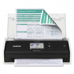 Brother International - ADS-1500W - Brother ImageCenter ADS-1500W Document Scanner - Duplex - Color - Document Scanner - 18ppm - Wireless - 2.7 Color Touchscreen display - USB 2.0