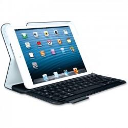 Logitech - 920-005893 - Logitech Keyboard/Cover Case (Folio) for 7 iPad mini - Black - Polyurethane Leather - 8.5 Height x 5.9 Width x 0.8 Depth