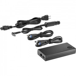 Hewlett Packard (HP) - H6Y84UT#ABA - HP 90W Slim Combo Adapter with USB - 90 W Output Power - 5 V DC, 19.5 V DC Output Voltage - USB