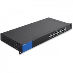 Belkin / Linksys - LGS124 - Linksys LGS124 - Switch - unmanaged - 24 x 10/100/1000 - rack-mountable - AC 100/230 V