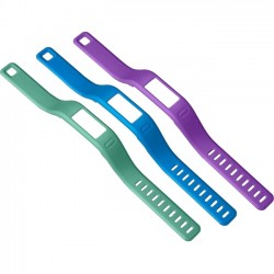 Garmin - 010-12149-00 - Garmin v vofit Bands - 3 - 8.3 Length - Purple, Teal, Blue - Gum
