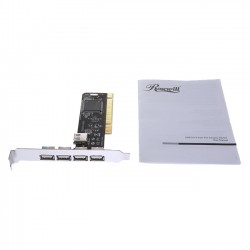 Rosewill - RC-101 - Rosewill NEC 4+1 Port USB2.0 PCI Card Model RC-101 - PCI - Plug-in Card - 5 USB Port(s) - 5 USB 2.0 Port(s)