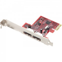 Rosewill - RC-226 - Rosewill RC-226 PCI-Express 2.0 Low Profile SATA III (6.0Gb/s) Controller Card - Serial ATA/600 - PCI Express 2.0 - Plug-in Card - 2 Total SATA Port(s) - 2 SATA Port(s) External
