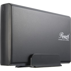 Rosewill - RX35-AT-IU BLK - Rosewill RX35-AT-IU BLK Drive Enclosure External - Black - 1 x Total Bay - 1 x 3.5 Bay - USB 2.0