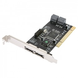 Rosewill - RC-209-EX - Rosewill RC-209-EX Serial ATA Controller - Serial ATA/150 - PCI - Plug-in Card - RAID Supported - 0, 1, 0+1, 5 RAID Level - 6 Total SATA Port(s) - 4 SATA Port(s) Internal