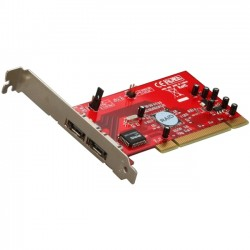 Rosewill - RC-221 - Rosewill RC-221 PCI Low Profile Ready SATA Controller Card - Serial ATA/150 - PCI - Plug-in Card - RAID Supported - 0, 1, JBOD RAID Level - 2 Total SATA Port(s)
