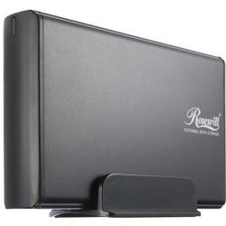 Rosewill - RX35-AT-SU BLK - Rosewill RX35-AT-SU BLK Drive Enclosure External - Black - 1 x Total Bay - 1 x 3.5 Bay - USB 2.0