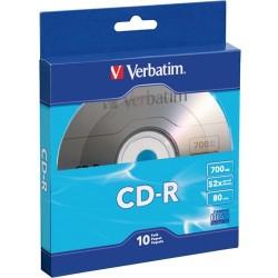 Verbatim / Smartdisk - 97955 - Verbatim CD-R 700MB 52X with Branded Surface - 10pk Bulk Box - 120mm - 1.33 Hour Maximum Recording Time