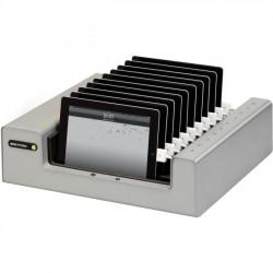 Bretford - HB717BG1 - Bretford PowerSync Tray 10 for iPad and iPad mini - Wired - iPad, iPad mini - Charging Capability - Synchronizing Capability - 2 x USB - Aluminum