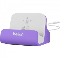 Belkin / Linksys - F8J045BTPUR - Belkin MIXIT ChargeSync Dock for iPhone 5 - Wired - iPhone, iPod - Charging Capability - Synchronizing Capability - Purple