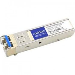 AddOn - SFP-FE-LH40SM1310-AO - AddOn HP SFP-FE-LH40SM1310 Compatible TAA Compliant 100Base-LX SFP Transceiver (SMF, 1310nm, 40km, LC) - 100% compatible and guaranteed to work