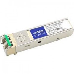 AddOn - SFP-FE-LH80SM1550-AO - AddOn HP SFP-FE-LH80SM1550 Compatible TAA Compliant 100Base-ZX SFP Transceiver (SMF, 1550nm, 80km, LC) - 100% compatible and guaranteed to work