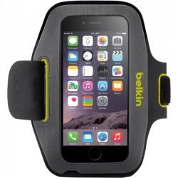 Belkin - F8W500-C02 - Belkin Sport-Fit Carrying Case (Armband) for iPhone 6 - Blacktop, Limelight - Scratch Resistant, Water Resistant - Neoprene, Lycra - Armband - 7.8 Height x 4.3 Width