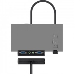 Belkin / Linksys - F2CD070 - Belkin Dual View Displayport to 2x VGA with 3.5mm Adapter Dongle - Video converter - DisplayPort - D-Sub, VGA