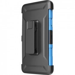 I-Blason - GALXY-NOTE4-PRIME-BLUE - i-Blason Prime Carrying Case (Holster) for Smartphone - Blue - Impact Absorbing, Shock Absorbing, Drop Proof - Polycarbonate, Silicone - Belt Clip, Holster