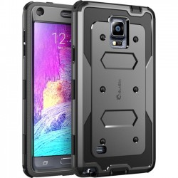 I-Blason - GALXY-NOTE4-ARMORBOX-BLACK - i-Blason Samsung Galaxy Note 4 Armorbox Dual Layer Full Body Protective Case - Smartphone - Black - Thermoplastic Polyurethane (TPU), Polycarbonate