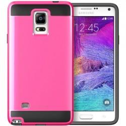 I-Blason - GALXY-NOTE4-UNITY-PINK - i-Blason Samsung Galaxy Note 4 Unity 2 Layer Slim Armored Case - Smartphone - Black, Pink - Rubberized - Thermoplastic Polyurethane (TPU), Polycarbonate