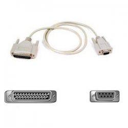 Belkin / Linksys - F2L088B06 - Belkin Pro Series Modem Serial Cable - DB-25 Male Modem - DB-9 Female - 6ft - Black