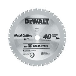 "Dewalt - DW7763 - Dewalt 6-3/4"" 40-Tooth Metal-Cutting Carbide-Tipped Blade - 6.75"" Diameter - Carbide-tipped - Steel, Titanium Carbide"