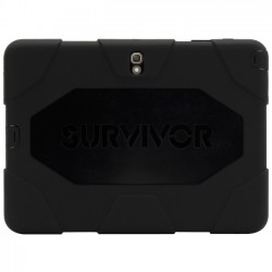 Griffin Technology - GB40645 - Griffin Survivor All-Terrain for Galaxy Tab S 10.5 - Tablet - Black - Polycarbonate, Silicone, Foam - 78.74 Drop Height