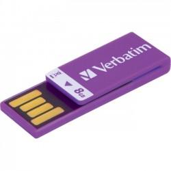 Verbatim / Smartdisk - 43937 - Verbatim 8GB Clip-It USB Flash Drive - Violet - 8 GB - Violet - 1 Pack