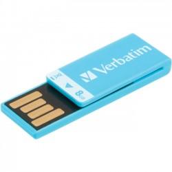 Verbatim / Smartdisk - 43934 - Verbatim 8GB Clip-It USB Flash Drive - Caribbean Blue - 8 GB - Blue - 1 Pack - Water Resistant, Dust Resistant