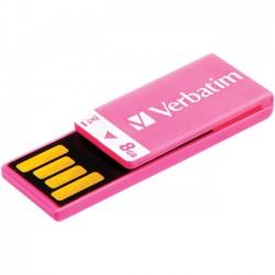 Verbatim / Smartdisk - 43935 - Verbatim 8GB Clip-It USB Flash Drive - Hot Pink - 8 GB - Pink - 1 Pack - Water Resistant, Dust Resistant