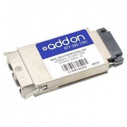 AddOn - GBIC-GELH70SM1550AAO - AddOn HP GBIC-GELH70SM1550A Compatible TAA Compliant 1000Base-ZX GBIC Transceiver (SMF, 1550nm, 80km, SC) - 100% compatible and guaranteed to work