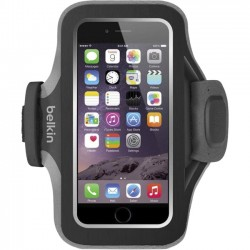 Belkin - F8W499BTC00 - Belkin Slim-Fit Plus Carrying Case (Armband) for iPhone, Accessories - Blacktop - Neoprene, Fabric - Armband