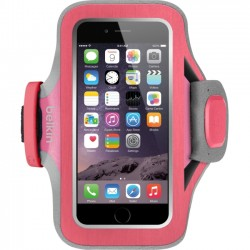 Belkin / Linksys - F8W499BTC01 - Belkin Slim-Fit Plus Armband - Arm pack for cell phone - neoprene - fuchsia - for Apple iPhone 6